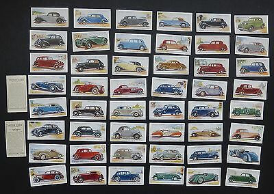 Cigarette Trade Cards:Set J Player Motor Cars 2nd CI Issue