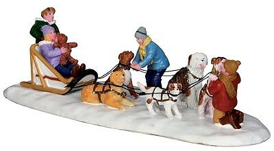 "LEMAX CHRISTMAS VILLAGE ""NEIGHBORHOOD DOGSLED TEAM"" SKU No. 33024 TABLE ACCENT"