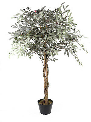 Artificial Realistic Potted Olive Tree 122 cm Indoor Home Decor Hallway Durable