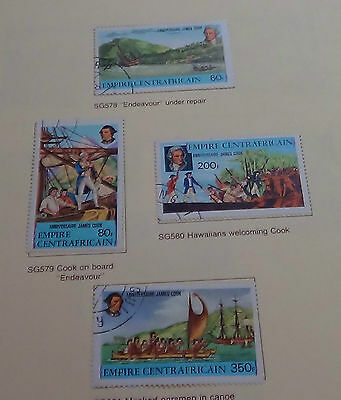 24 Central African Republic & Empire mint stamps. Most CTO.