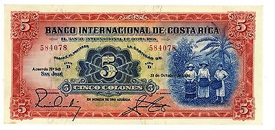 Costa Rica ... P-180 ... 5 Colones ... 31-Oct-1936 ... *UNC(*)*