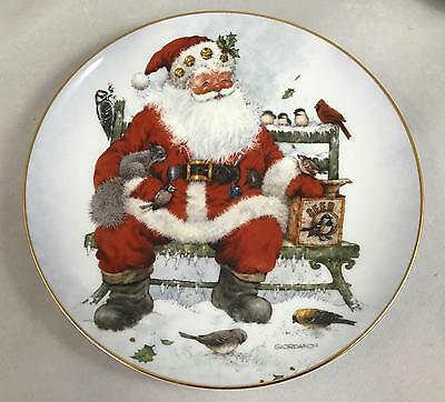 Franklin Mint Royal Doulton Christmas Plate 'A Song for the Season' by Giordano