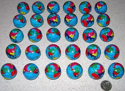 30 Metal World Mini Globes Gumball Size
