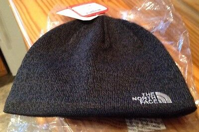 BNWT THE NORTH FACE JIM BEANIE- TNF Black Heather - One Size - Unisex