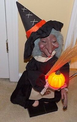 Vintage Telco Motionettes Animated Lighted Witch Figure