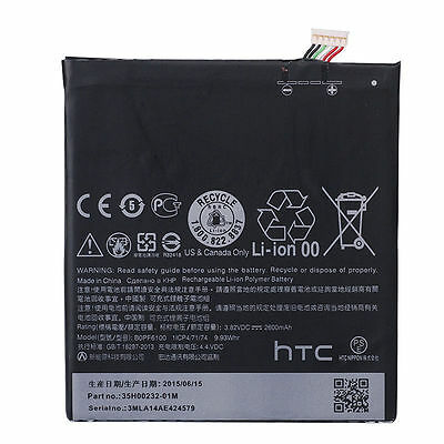 Genuine HTC Desire D820u D820f 820p 2600mAh Internal Battery B0PF6100 Li-ion NeW