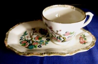 Duchess Tea Cup and Saucer/Plate Combination. Indian Tree Pattern.