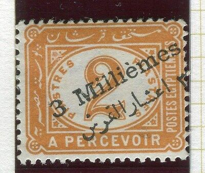 EGYPT;  1898 early Postage Due surcharged issue Mint hinged 3m/2Pi.