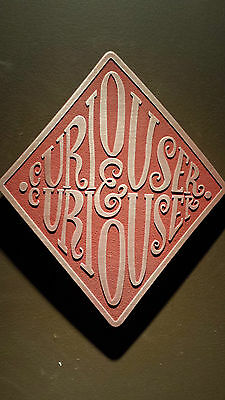 Alice in Wonderland themed Curiouser and Curiouser diamond plaque