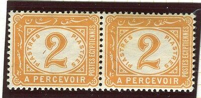 EGYPT;  1889 early classic Postage Due issue Mint hinged 2Pi. Pair