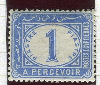 EGYPT;  1889 early classic Postage Due issue Mint hinged 1Pi. value