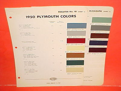 1950 Plymouth Special Deluxe Convertible Business Coupe Sedan Wagon Paint Chips