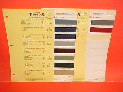 1946 1947 1948 Plymouth Six Special Deluxe Convertible Coupe Sedan Paint Chips