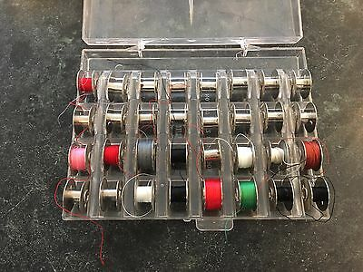 Set of 32 Metal Bobbins with Plastic Case BERNINA