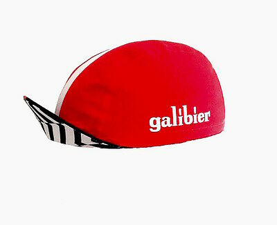 Cycling cap team Galibier Red with white stripe new with tags Cotton Peloton