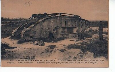 WW1 German Block House Put out of action Fort Pompelle Postcard