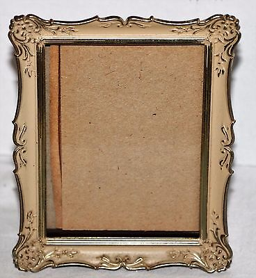Vintage Ruffled Metal Picture Frame