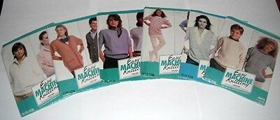 EASY MACHINE KNITTING PATTERNS McCALL - PATTERNS FOR CHARTING DEVICES