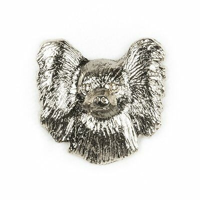 PAPILLON HEAD -FACE Made in U.K Artistic Style Dog Clutch Lapel Pin Collection