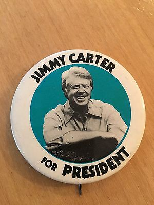 1976 Jimmy Carter Presidential Campaign Button Pin