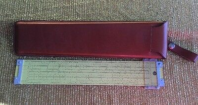 Pickett & Eckel Slide Rule Model N3-ES with Case Power Log Exponential 1960 USA