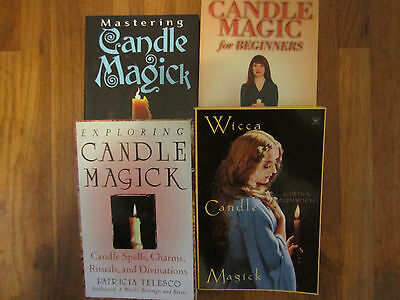 Lot of 4 Books on Candle Magic Metaphysical Wicca Spiritual Peace Prosperity