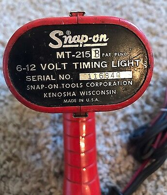 Vintage SNAP ON MT-215 TIMING LIGHT GUN AUTOMOTIVE DIAGNOSTIC ANALYZER