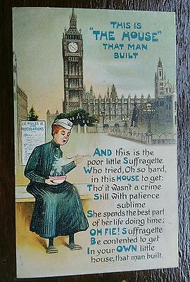 Original Suffragette The House Posted 1910 Postcard