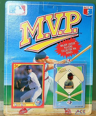 MVP Major League Baseball Nolan Ryan Rangers Collector Pin Series 1990 BNOC