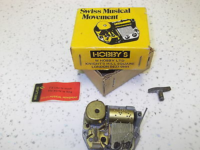 """Vintage Hobbys Swiss Musical Movement. T""""d Like To Teach The World To Sing."""
