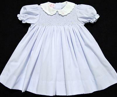 Petit Ami 3M Hand Smocked Blue Baby Dress~New