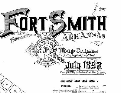 Fort Smith, Arkansas~Sanborn Map© sheets~1892~~ 15 maps on a CD