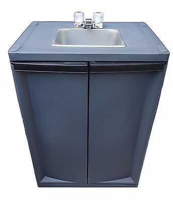 Self Contained Sink / Mobile Sink/ Portable Handwash Sink with warm water/Dark G