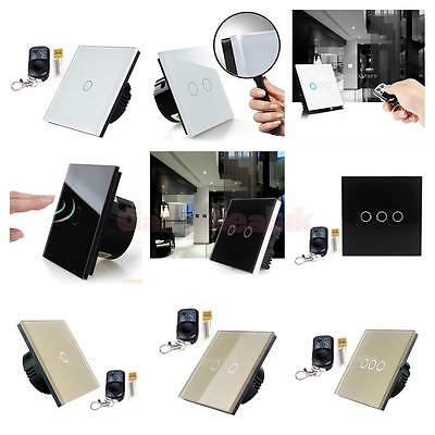Smart Touch Switch Luxury Glass Touch Sensor Panel LED Light Remote Switch WIFI