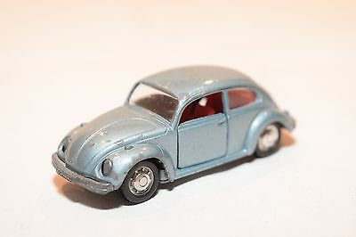Schuco 818 Vw Volkswagen Beetle Kafer 1302 S Metallic Light Blue Excellent Cond