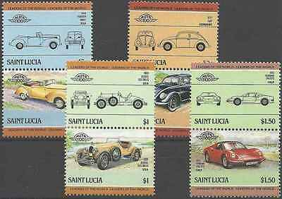 Timbres Voitures Ste Lucie 728/35 ** lot 2035