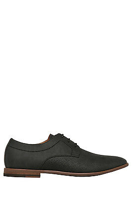 NEW Blaq Michael Perforated Lace Up Black