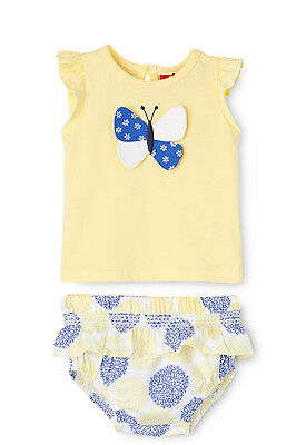 NEW Sprout Butterfly Tee & Frilly Bloomer Set Yellow