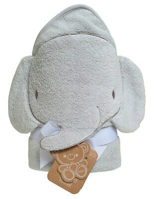 NEW Playgro Elephant Hooded Towel Grey
