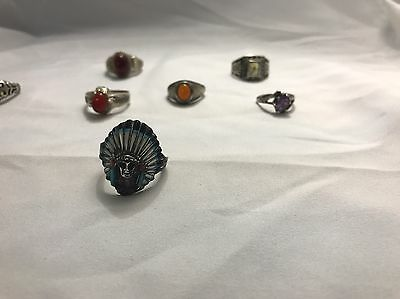 Lot of 8 Beautiful Vintage Sterling Silver Rings