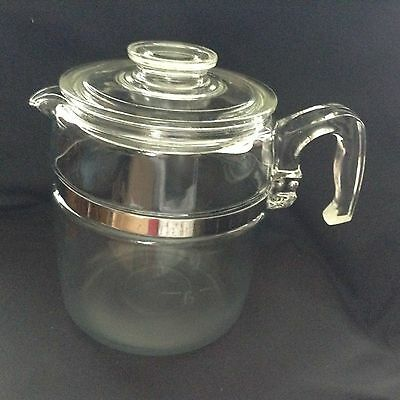 9 cup PYREX PERCOLATOR COFFEE POT Glass  7759 GENTLY USED without inner workings