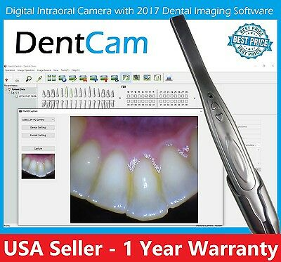 2017 DentCam DIGITAL 740 INTRAORAL INTRA ORAL DENTAL CAMERA USB PC Mac Apple