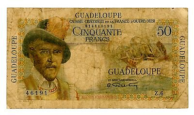 Guadeloupe ... P-34 ... 50 Francs ... ND(1947-49) ... *VG++*