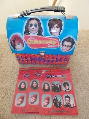 The Osbourne Family Mini Metal Lunchbox + 3 Sets Of Stickers From 2002