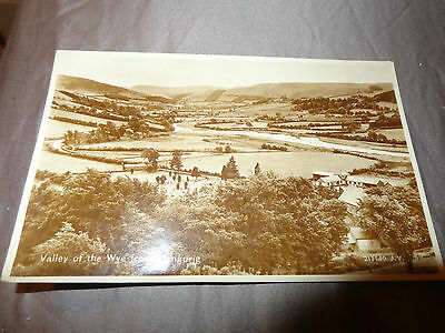 Valley Of The Wye From Llangurig Vintage RP Postcard Valentines 1932 1-g