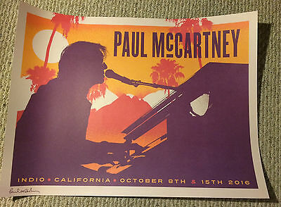 Paul Mccartney Desert Trip Show Poster Lithograph The Beatles Rare New