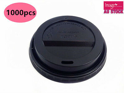 1000Pcs Take Away Coffee Cup Lid Sippa Lid Disposable Solo Black Lid 8oz/12oz/16