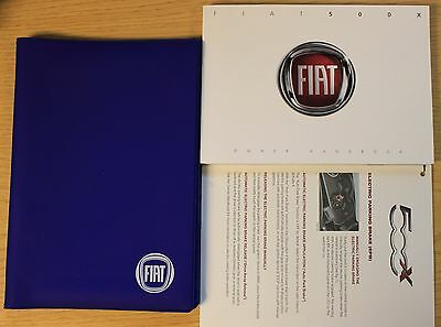 Fiat 500X 500 X Handbook Owners Manual Wallet 2014-2016 Main Pack 12229