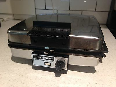 Vintage GE Waffle Iron General Electric Grill Reversible Plates