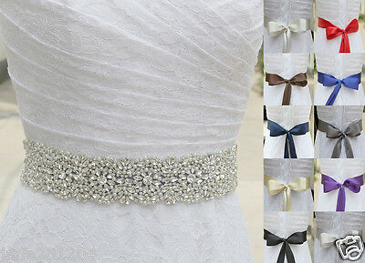 Ivory Belt Pearl Crystal waist Belt with Beaded Rhinestones Bridal sash 102#